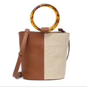 French Connection Tortoise Ring Leather Small Tote